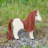 Wooden animal toy horse