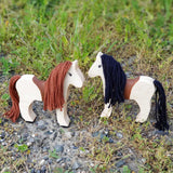 Wooden animals toy horses