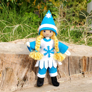 Winter Christmas Elf Girl Doll