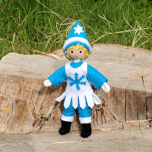 Winter Christmas Elf Boy Doll
