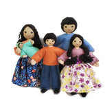 Asian Dollhouse Family with Big Kids