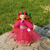 Pink Fairy Doll with Flower Wreath