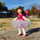 Cute pink fairy doll toy