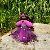 Magenta Fairy Doll with Flower Wreath