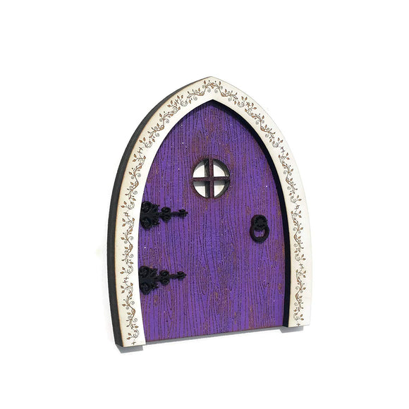 Purple fairy door wooden Wildflower toys Made in USA