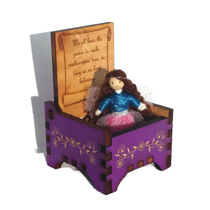 Tooth Fairy Box with Fairy Doll (purple)