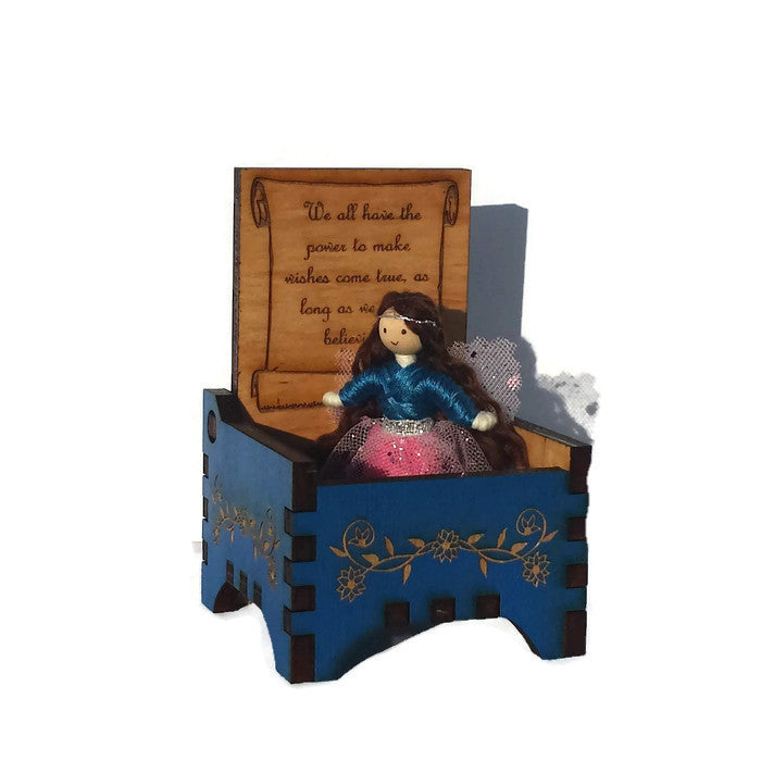 Tooth Fairy Box with Fairy Doll (blue)