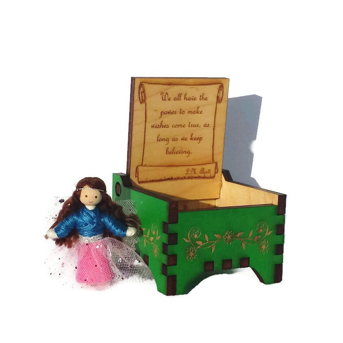 Tooth Fairy Box with Fairy Doll (green)
