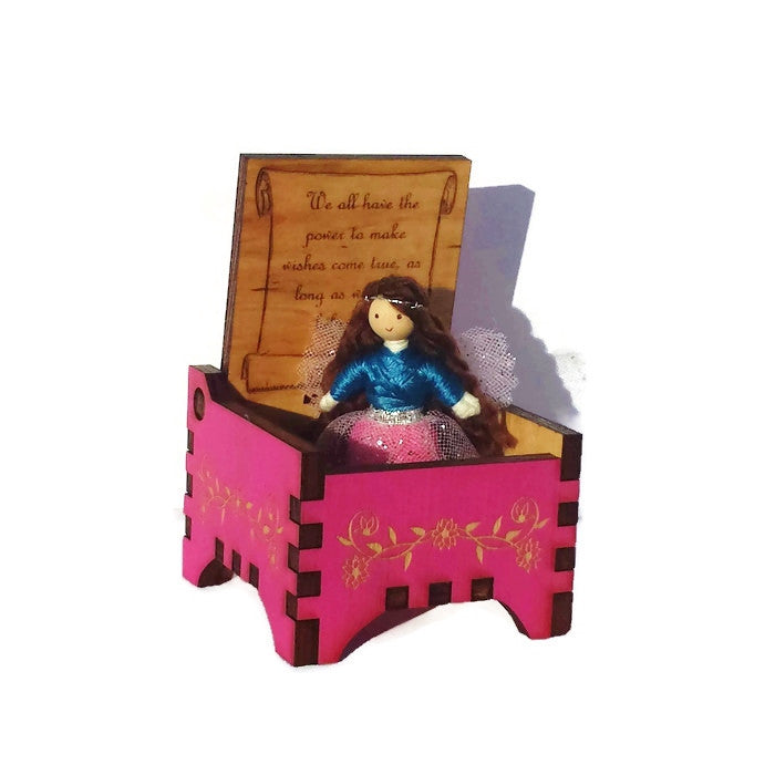 Tooth Fairy Box with Fairy Doll (pink)