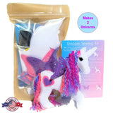Unicorn sewing kit felt craft kit for girls Made in the USA