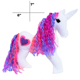 Felt unicorn craft rainbow hair