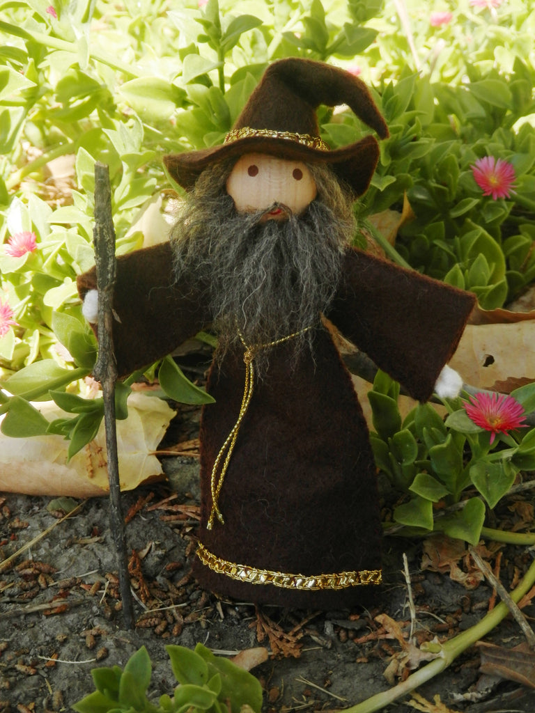 Natural Waldorf Inspired Wizard Doll