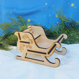 Miniature wood sleigh Wildflower toys