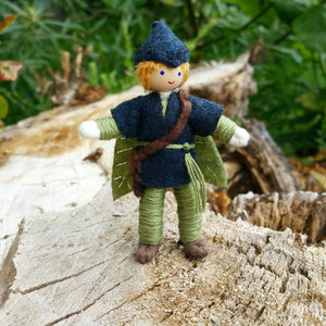 Waldorf Fairy Boy Elf Doll Handmade Wildflower Toys