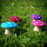 Rainbow fairy garden toadstools Wildflower Toys