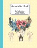 Composition Book notebook journal - Boho Design