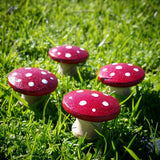 Red fairy garden mushrooms Wildflower Toys