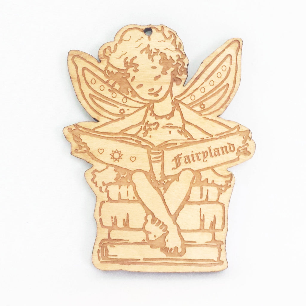 Reading Fairy Christmas Ornament