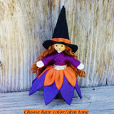 Witch doll Halloween Toy by Wildflower toys