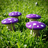 Purple fairy garden toadstools
