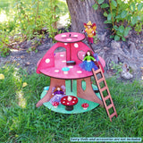 fairy house mushroom toy dollhouse