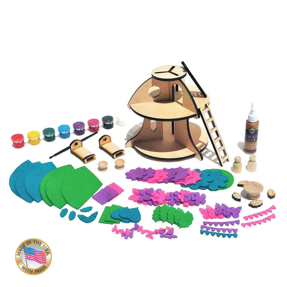 Wooden fairy house kit