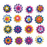 Bulk felt flower shapes for crafts