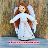Guardian Angel doll handmade light brown hair