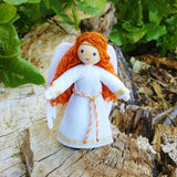 Christmas Angel doll red hair handmade