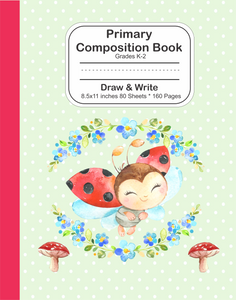 Primary Composition Book: Grades K-2 Draw and Write Ladybug