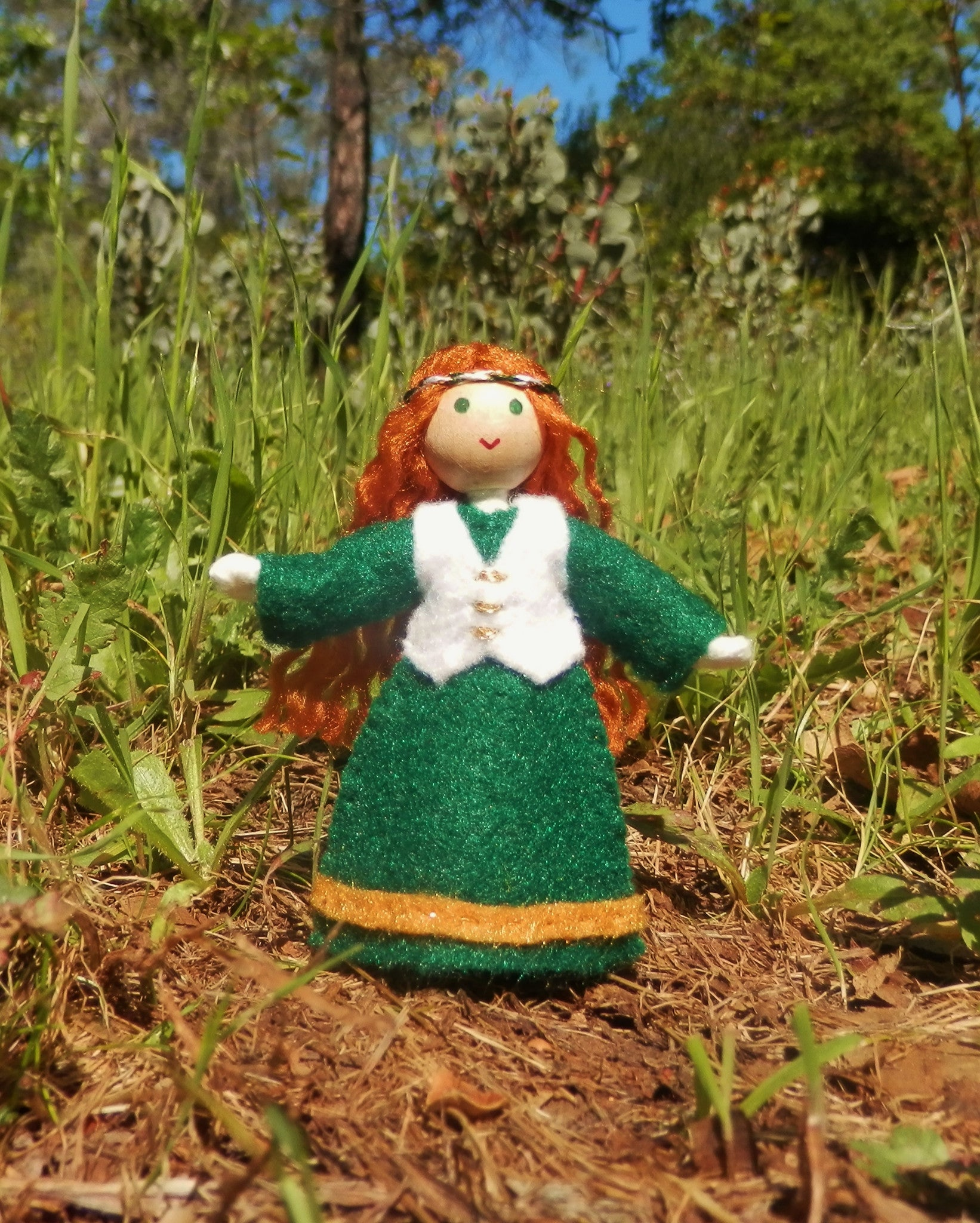 Miniature Irish Girl Doll