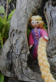 miniature Rapunzel princess doll Waldorf bendy doll