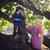 Rapunzel doll and prince doll