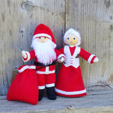 Santa Claus and Mrs. Claus Dolls handmade