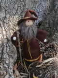 Wizard Doll -Natural Waldorf Inspired - miniature bendy doll - dollhouse castle