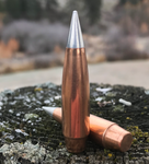 Rocky Mountain bullets copper jacked aluminum tip rebated boat tail projectile
