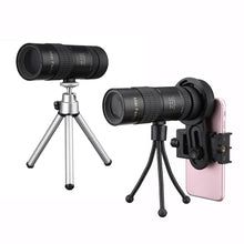 Load image into Gallery viewer, 10-30x Telephoto Telescope Monocular Camera Lens+ Cell Phone Clip +Tripod Stand