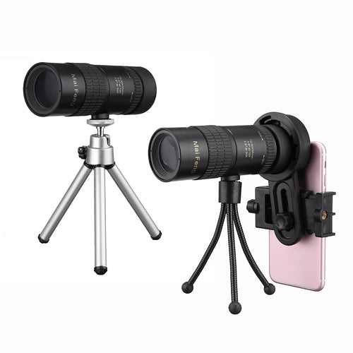 10-30x Telephoto Telescope Monocular Camera Lens+ Cell Phone Clip +Tripod Stand