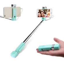 Load image into Gallery viewer, Extendable Mini All in One Wire-controlled Mini Wire Selfie Stick for Mobile Phone