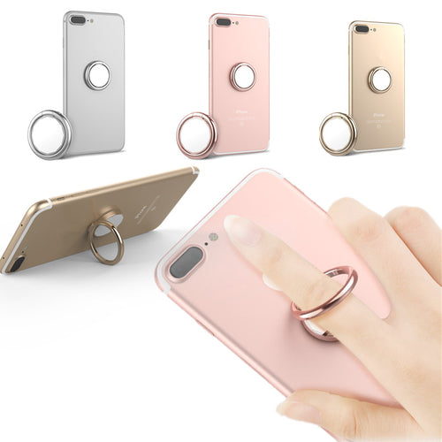 2 in 1 Mirror 360 Degree Rotation Finger Ring Stand Desktop Phone Holder for iPhone 8 X Smartphone