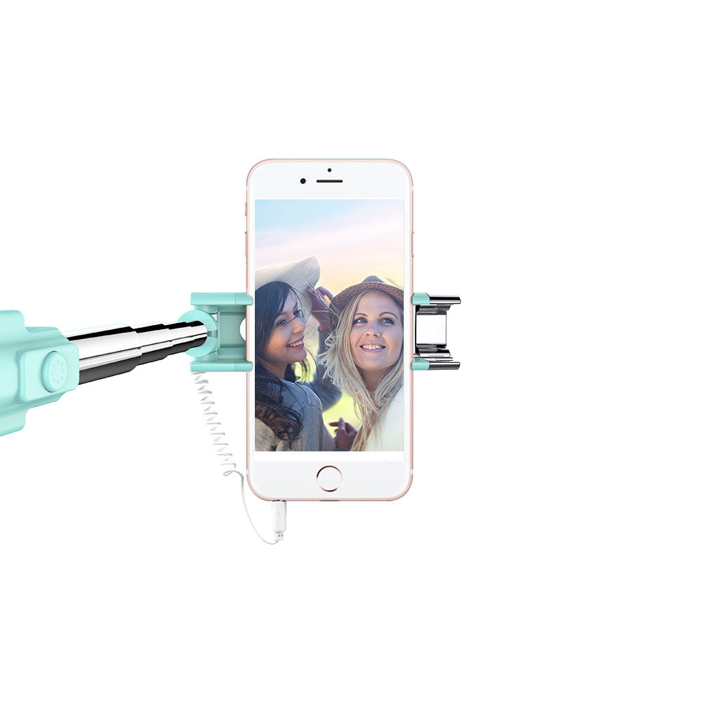Extendable Mini All in One Wire-controlled Mini Wire Selfie Stick for Mobile Phone