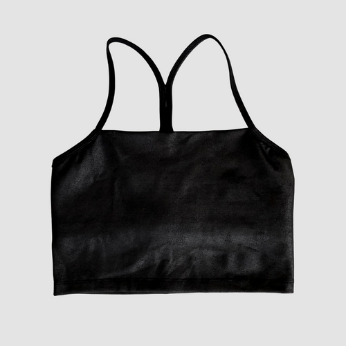 Leatherette Cropped Tank