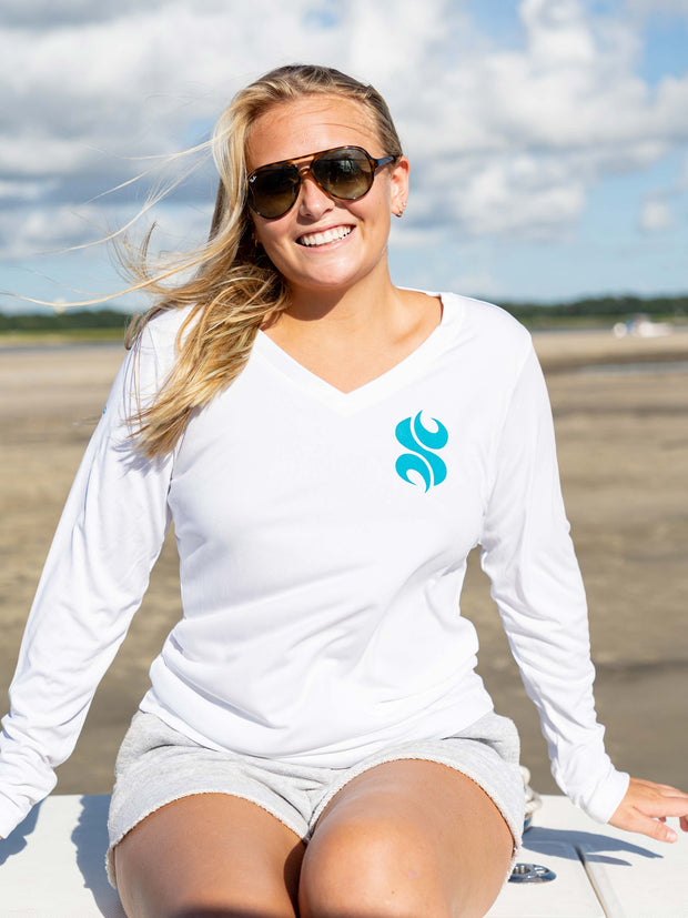 Sandbar Life V-Neck Performance Tee