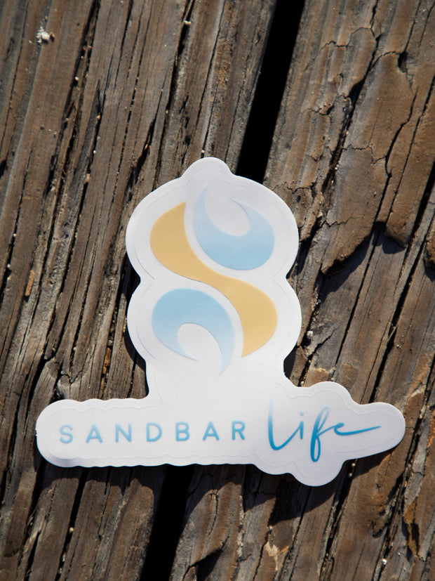 Sandbar Life Transparent Decal