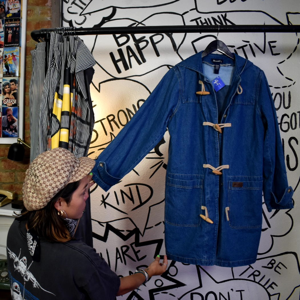 Vintage 90s home alone Denim Coat M