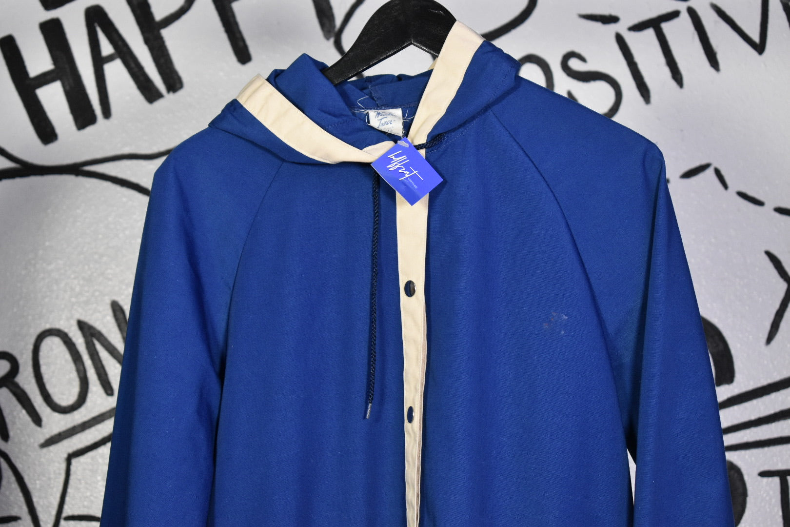 Vintage 70s Blue Hooded Jacket M