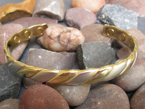Ladies Gold Copper Magnetic Bangle
