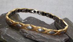 Ladies Titanium Gold / Silver Magnetic Bracelet