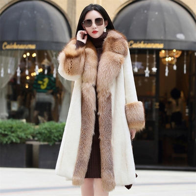 Mink w/Fox Fur Collar