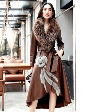Sheepskin Coat w/Mink